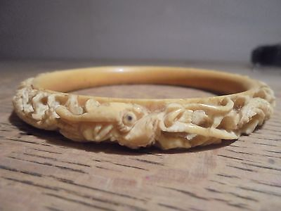 Antique Chinese Carved Bracelet