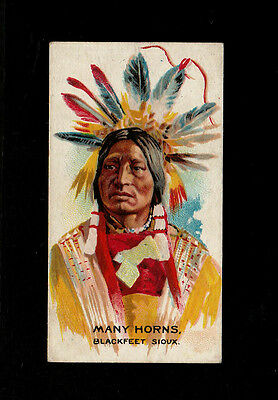 "B.a.t 1930 Scarce (Wild West Indian) Type Card "" # 40 Many Horns - Indian Chiefs"
