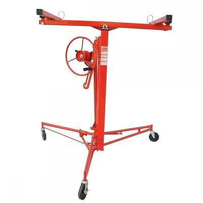 New 11FT Panel Hoist Dry Wall Rolling Caster Lifter Construction Tool