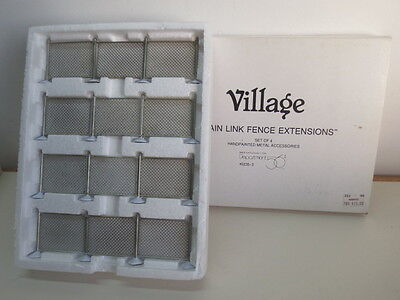 Dept. 56 ~ Christmas Village Accessory ~ Chain Link Fence Extensions # 52353