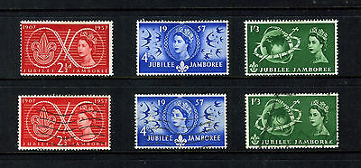 GB 1957 JUBILEE JAMBOREE 2 SETS FINE USED & MOUNTED MINT SG557-559 : See Scan
