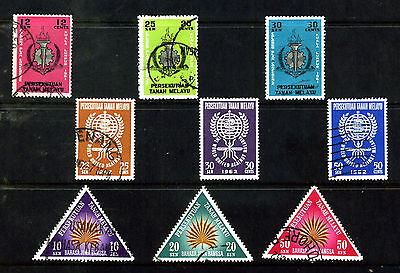 MALAYSIA 1961 -1962 COMPLETE SETS SG 20 – 28 MINT OR USED : See Scan
