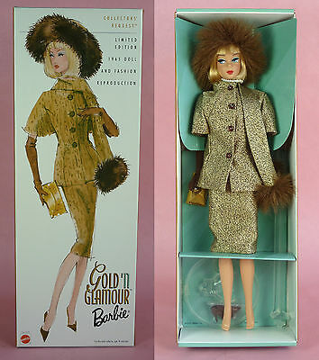 Gold 'n Glamour Barbie Vintage Nostalgic Reproduction/repro  - Nrfb - 2001