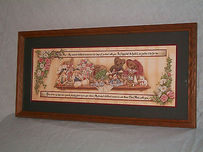Home Interiors/ Homco Childhood Memories With Mom Framed Picture