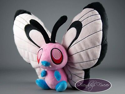 "Pokemon Pink Butterfree ピンクバタフリー Pink Butterfree Plush Pokemon 12""/30cm UK Stock"
