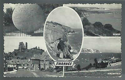 Postcard: Views of Swanage.  Posted
