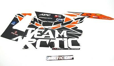 Arctic Cat Hood & Side Panel Decal Kit - Orange Team Arctic - 2012-2017 ZR F XF