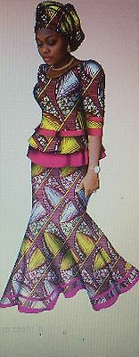 African Print top and a Skirt set. Size: 16/18, 18/20