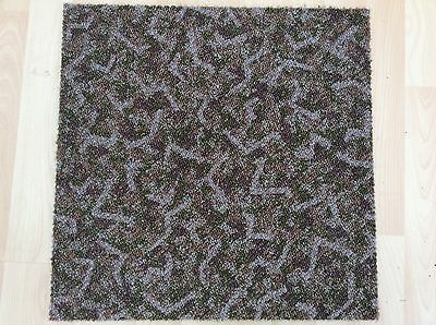 Carpet Tiles Green Brown Mixed Heavy Duty