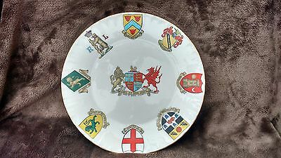 Large Goss Plate with Interesting English Crests Some Scarce Crested China