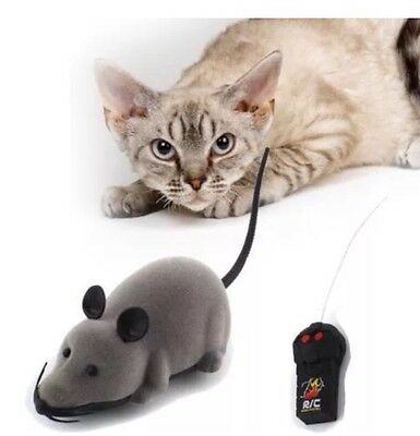 New Remote Control RC Rat Mouse Wireless For Cat Dog Pet Funny Toy
