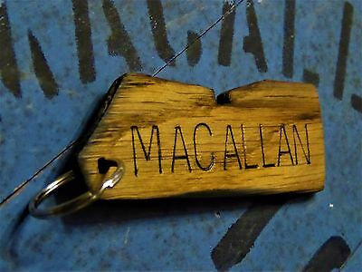 "Macallan Whisky (Sherry Cask) 1993 Oak Stave Keychain Fob Pendant 4"" ~ 10cm"