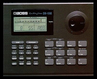 Boss Dr-550 Dr Rhythm Drum Machine + Manual & Power Supply