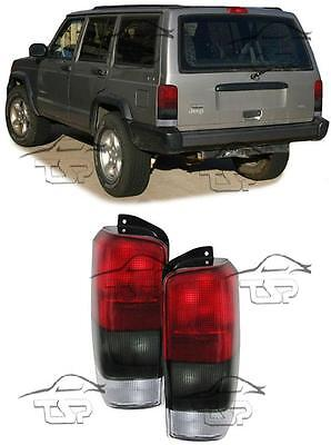 Rear Tail Red-Smoke Lights For Jeep Cherokee Xj 96-01 Lamp Fanale