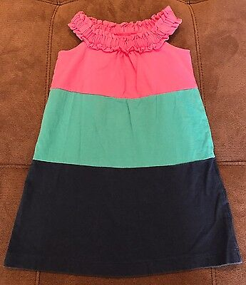 Baby Gap Toddler Girls Size 2T Navy Teal And Pink Dress