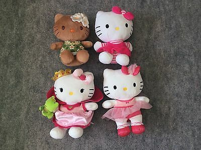 Lot De 4 Peluches Hello Kitty