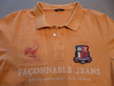 Polo FACONNABLE - Manches courtes - taille M - Orange