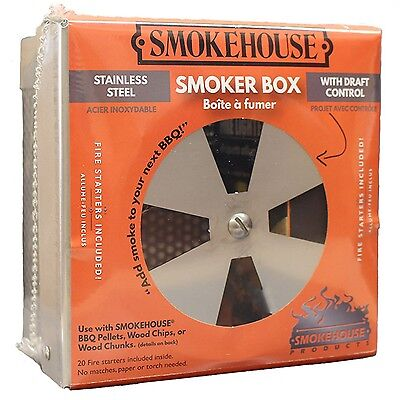 Smokehouse Smokebox with Draft Control Stainless Steel