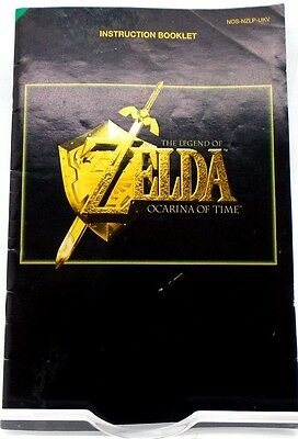 The legend of ZELDA orcania of time instruction manual Nintendo N64 FREE P+P