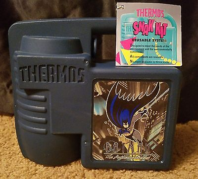 Vintage 1993 Batman The Animated Series Plastic Lunchbox by Thermos
