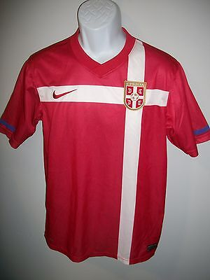 Mens Embroidered Nike Serbia National Team Football Soccer Jersey sz. S EUC