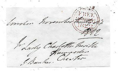 1822 Free Front London To Chester Signed George Bankes Mp For Corfe Castle