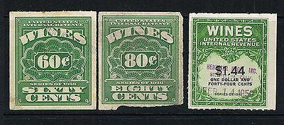 USA Wines revenue stamps