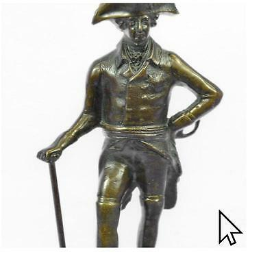 Handcrafted20Th Century Bronze Frederick The Great Hot Cast Figurine