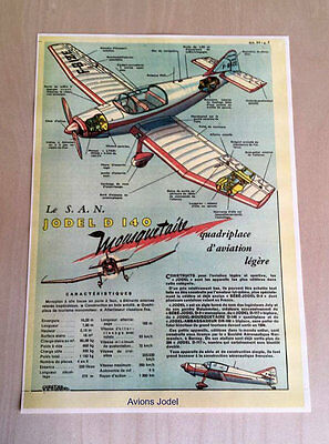 Aviation Reproduction JODEL D140A PROTOTYPE ARCHIVES 1959