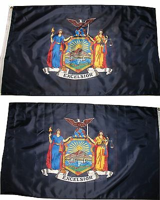 3x5 State of New York 2 Faced Double Sided 2-ply Polyester Flag