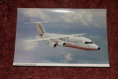 Capital Airlines Bae 146 Airline Issue Postcard