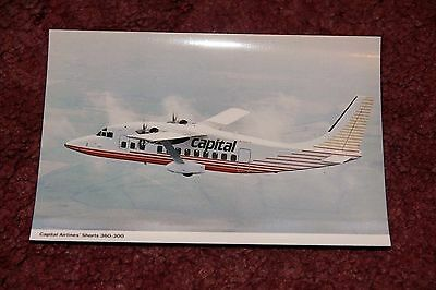 Capital Airlines Shorts 360 Airline Issue Postcard