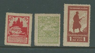 Czechoslovak Army In Siberia Russia Mint Set Perf See Both Scans For Condition