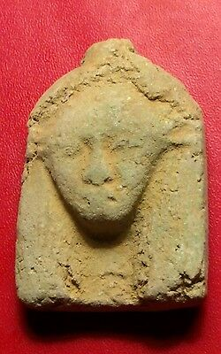 Egyptian Pharaoh Amulet, Ushabti, Faience Amulet 42 mm, see description