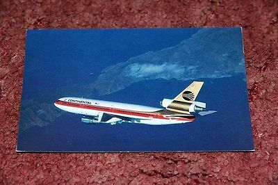 Continental Airlines Mcdonnell-Douglas Dc-10 Airline Issue Postcard
