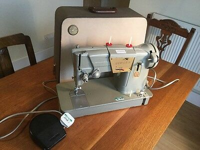 Vintage Singer 328k Electric Sewinh Machine Working PAT Tested