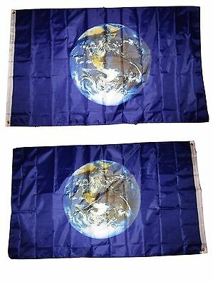 3x5 Planet Earth 2 Faced Double Sided 2-ply Polyester Flag