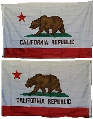 3x5 State of California Republic CA 2 Faced Double Sided 2-ply Polyester Flag