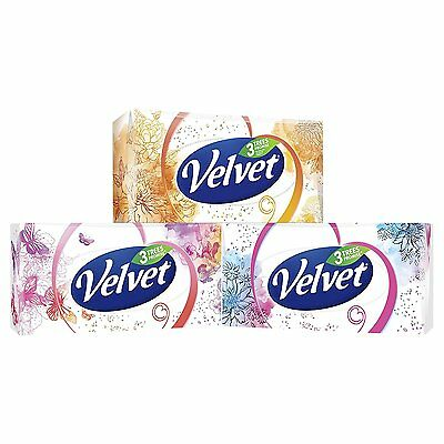 Velvet Classic Three Ply Facial Tissues (Pack of 4, Total 320 Tissues)