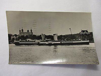 old postcard ps golden eagle (posted clacton on  sea 1948)