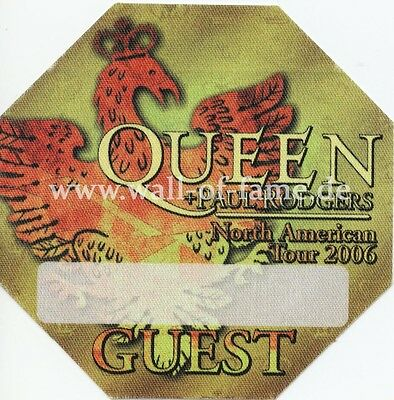 Queen & Paul Rodgers Backstage Pass North American Tour 2006 unused