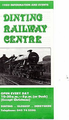 Dinting Railway Centre Leaflet 1989