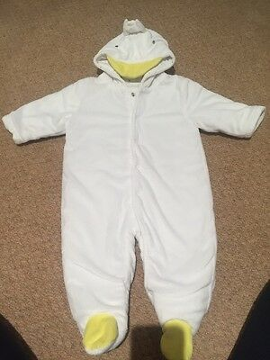 Next Baby Duck Snowsuit (boy Or Girl) 3-6 Months - Ideal For Easter!!