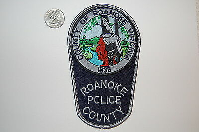 County of Roanoke Vinginia Police Indian Patch