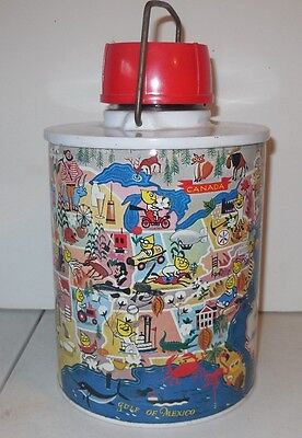 "Great Vintage ""ESSO"" Advertising Thermos with Glass Insert"