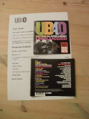 Ub40/ali Campbell Unplugged 2 Disc Signed Edition New + Proof