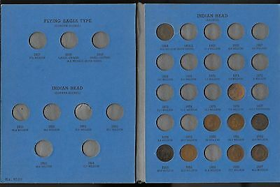 Indian Head Cent Collection in Ehitman Folder  ( 29 coins including 1864)