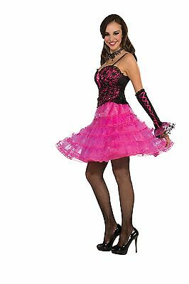 Crinoline Underskirt Costume Undergarment Adult: Hot Pink One Size Fits Most