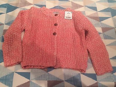 BNWT Next Girls Pink Knitted Cardigan 3-4 Years