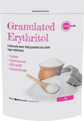 Erythritol 1kg Natural Sugar Free Sweetener Replacement Substitute Alternative